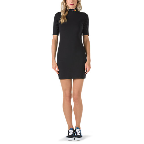 Lodge Body Con Embroidered Dress