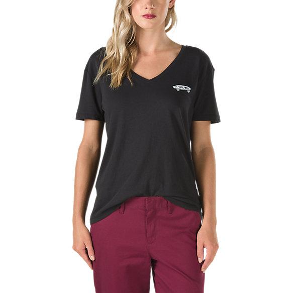 Classic skate v neck t shirt shop womens tees at vans for V neck t shirt online shopping
