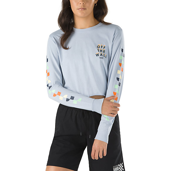 Reign Marker Crop Long Sleeve Boyfriend Tee