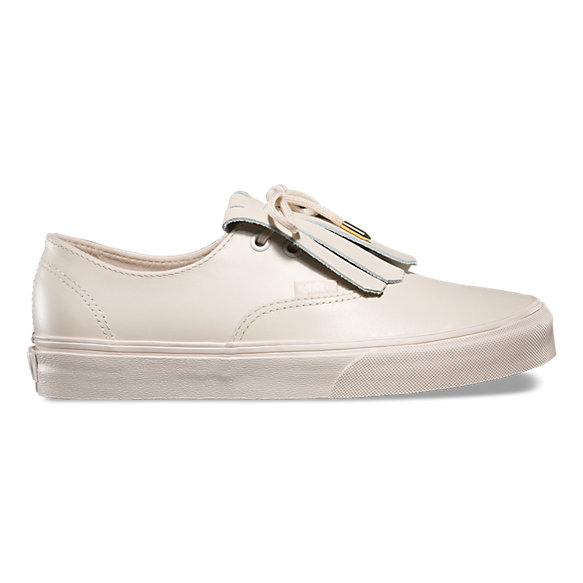 vans authentic leather fringe sneakers nz