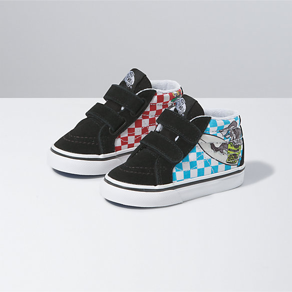 Toddler Xtreme Sharks Sk8-Mid Reissue V