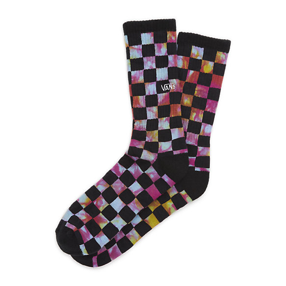 Trippy Checkerboard Crew Sock