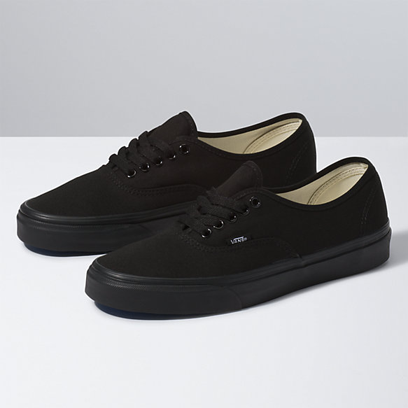 Image result for vans authentic black black