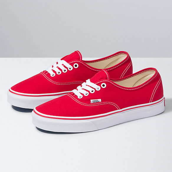 VANS Authentic Women | Red (EE3RED) | Red vans shoes, Red