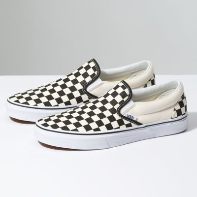 VANS-cLASSİC Checker print Slip-on purple/blk--45