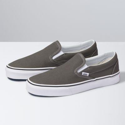 solid grey vans