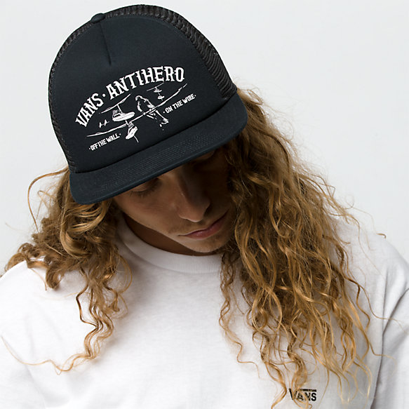 ce0a970d Vans x Anti Hero Wired Trucker Hat | Shop Mens Hats At Vans