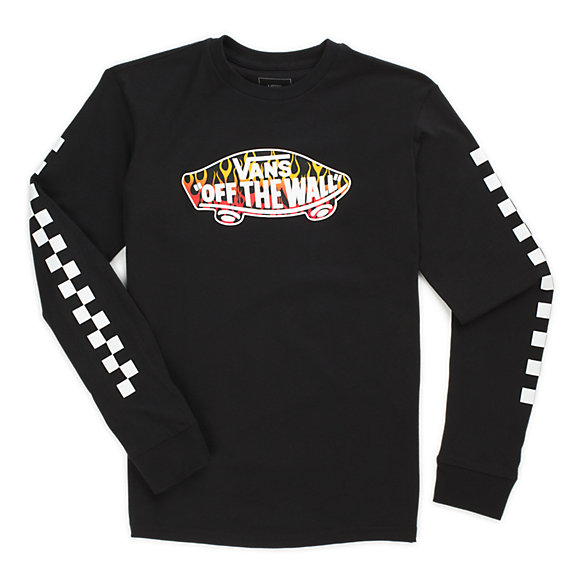 Boys OTW Check Long Sleeve T Shirt