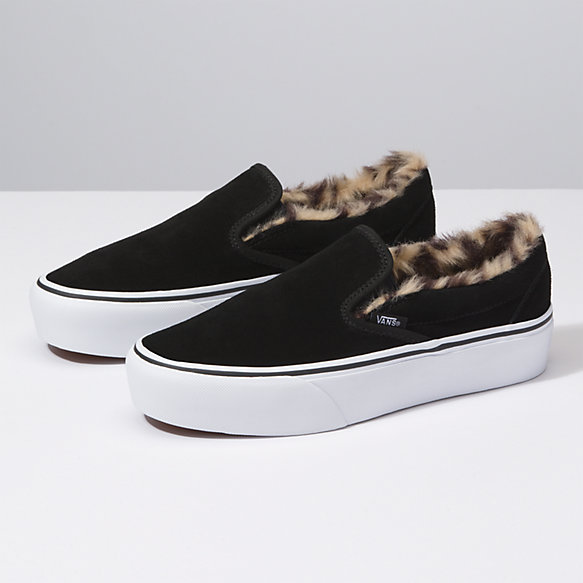 wholesale price diversified in packaging designer fashion Suede Slip-On Platform