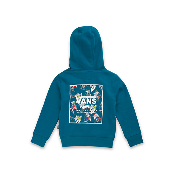 Little Kids Print Box Back Pullover Hoodie