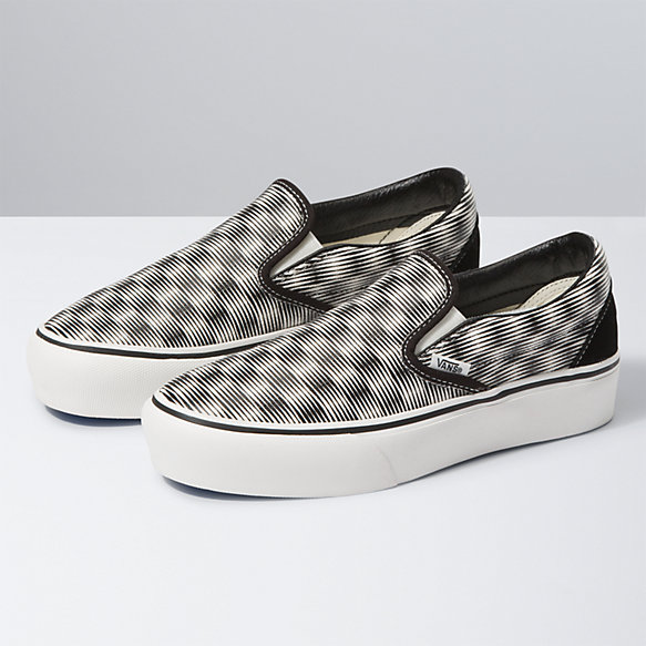 Hemp Blur Checker Slip-On Platform SF