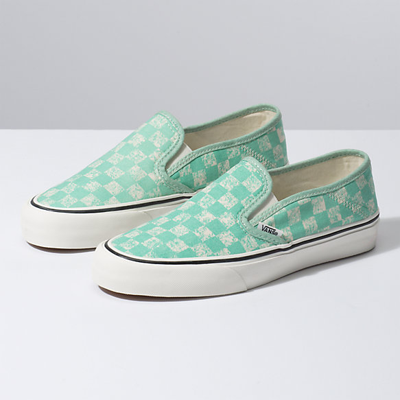 Distressed Checkerboard Slip-On SF