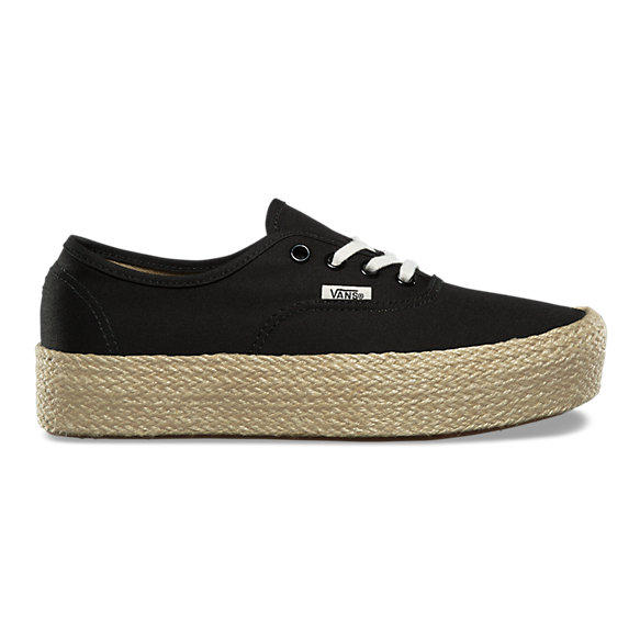 vans authentic platform all black