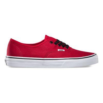 vans authentic red black