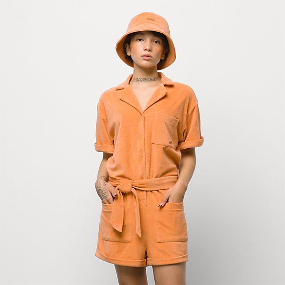 Day Tripper Terry Cloth Romper