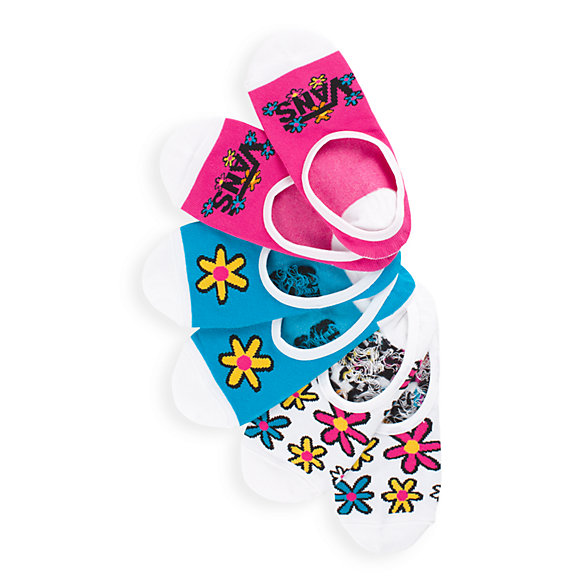 Stacked Floral Canoodles Socks 3 Pack
