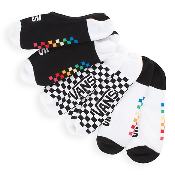 Gradient Check Canoodles Socks 3 Pack