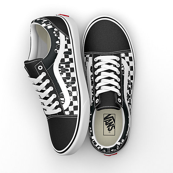 Paint Drip Checkerboard Old Skool