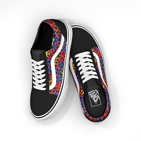 Rainbow Spot Leopard Old Skool