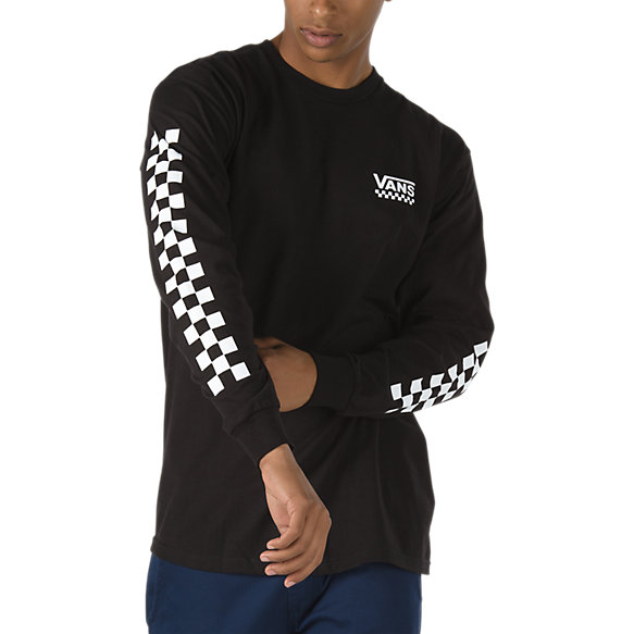 Checkered Vee Long Sleeve T-Shirt
