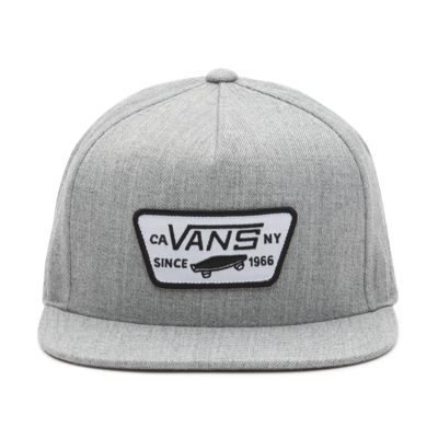 Vans Full Patch Snapback Hat (Heather Grey)