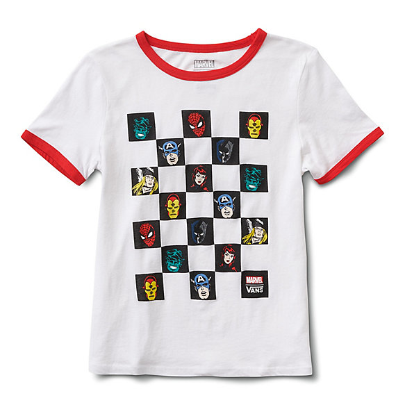 Vans x Marvel Heads Ringer Tee | Shop Womens Tees At Vans