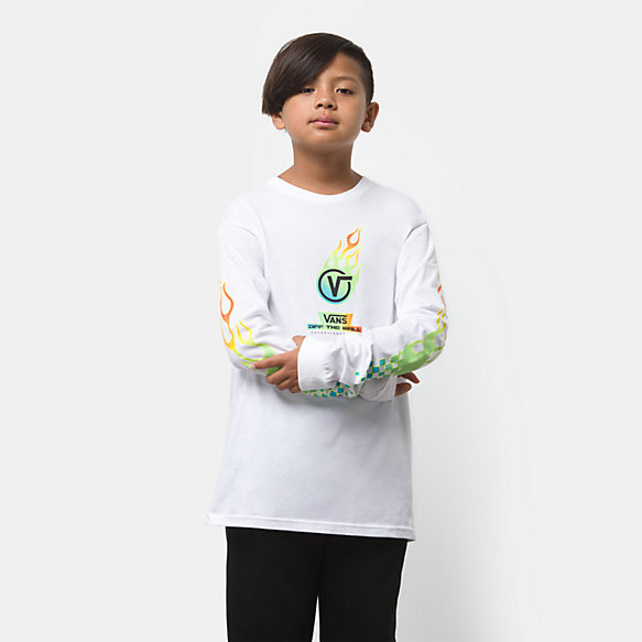 Boys Glow Flame Long Sleeve T-Shirt
