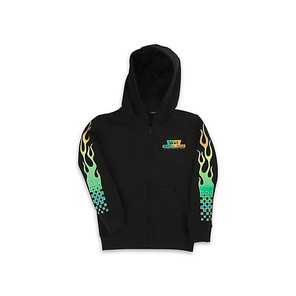Little Kids Glow Flame Full Zip Hoodie