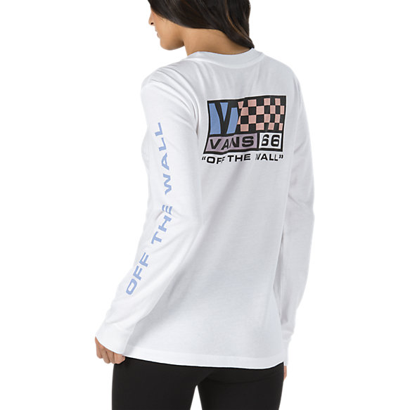 New Flag Long Sleeve Boyfriend T-Shirt | Shop Womens Tees At Vans