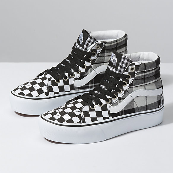 Plaid Checkerboard Sk8 Hi Platform 2.0