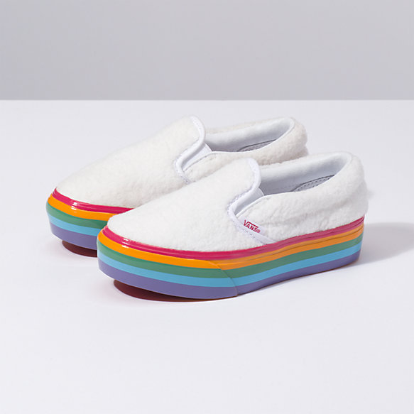 Kids Shearling Classic Slip-On Platform