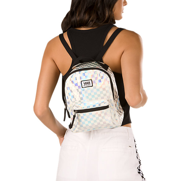 Iridescent Check Mini Backpack