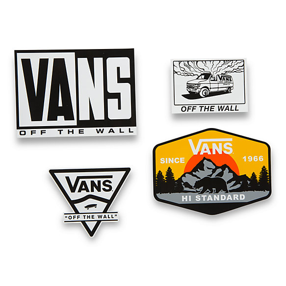 Vans Classic Logo Stickers 4 Pack