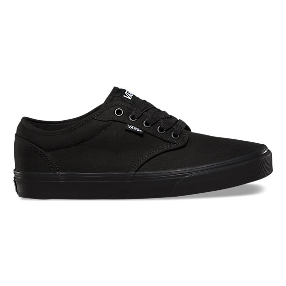 vans atwood black leather trainers