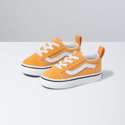 Vans Toddler Old Skool Elastic Lace (Golden Nugget/True White)