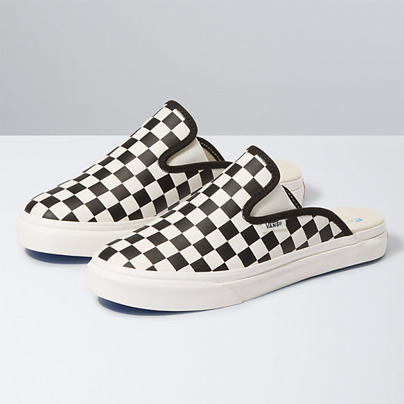 Leather Checkerboard Mule SF