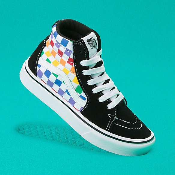 Kids Checkerboard ComfyCush Sk8-Hi Zip