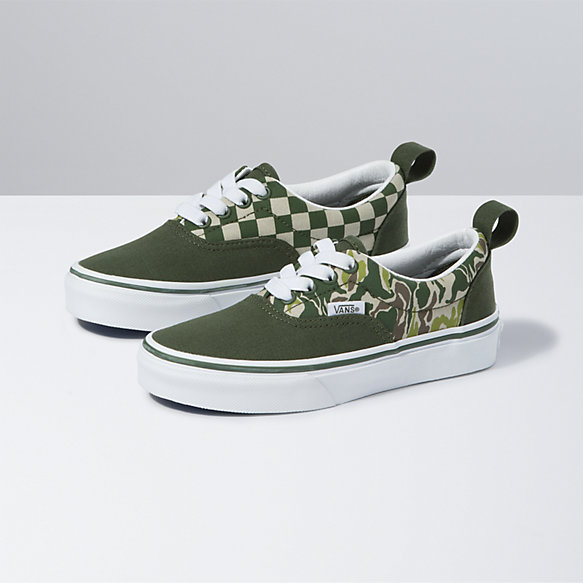 Kids Camo Checkerboard Era Elastic Lace