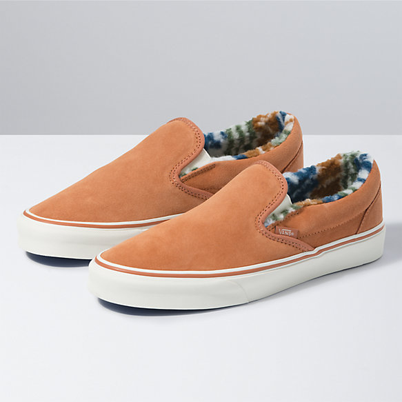 Suede Sherpa Classic Slip-On