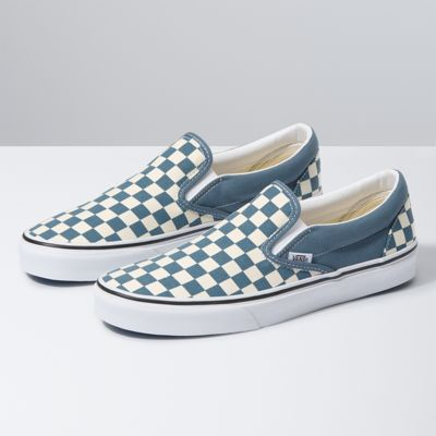 blue checkered vans shoes