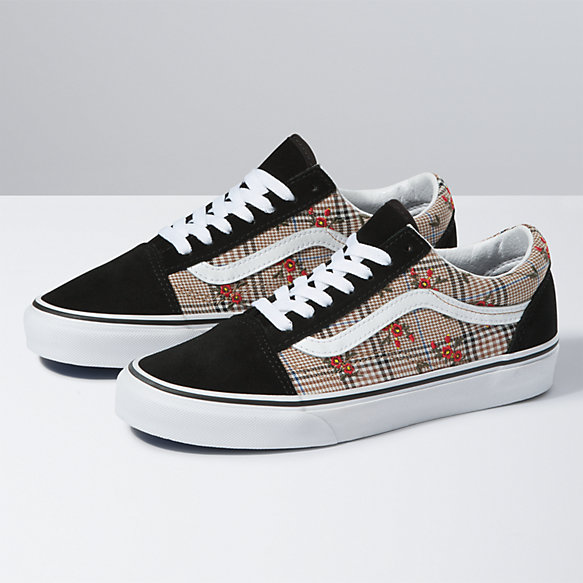 Glen Plaid Floral Old Skool