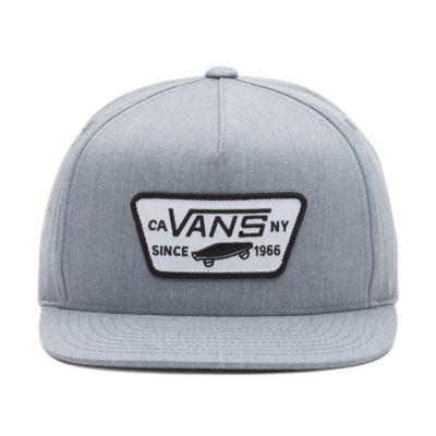 4de130589d2 Vans Boys Full Patch Snapback Hat Heather Grey