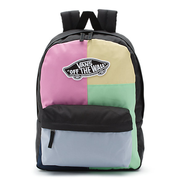Realm Solid Patchwork Backpack