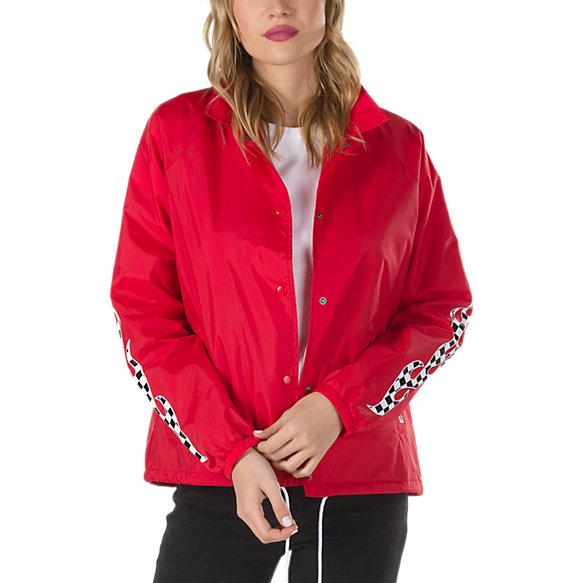 Checker Flame Thanks Coach Jacket Shop Womens Jackets At
