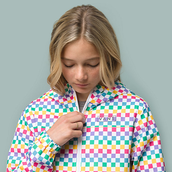 Girls Kastle Check Windbreaker Jacket