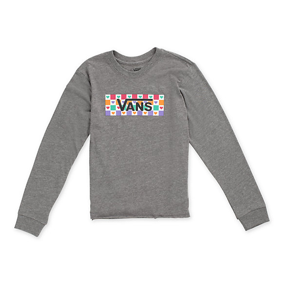 Girls Check Tangle Long Sleeve Tee