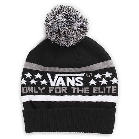 vans black and white beanie