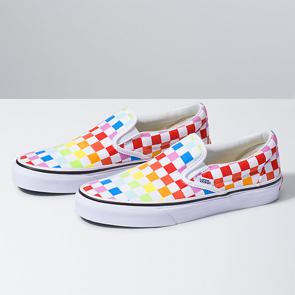 rainbow slip on vans near me