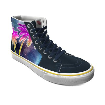 Vans Customs Galaxy Palm Sk8-Hi (Customs)