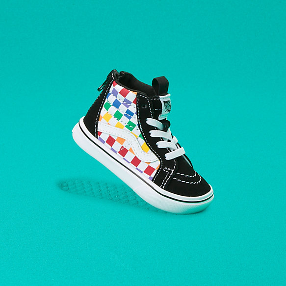 Toddler Checkerboard ComfyCush Sk8-Hi Zip
